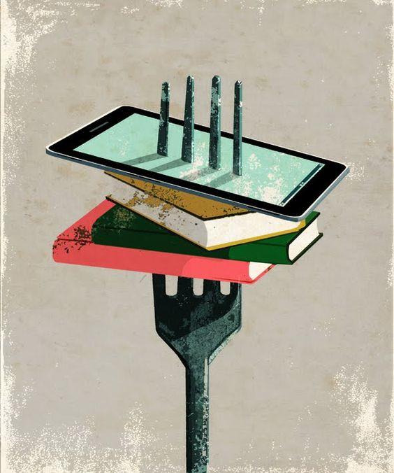 Leitura:alimento imprescindível Ilustração de Eva Vázquez)