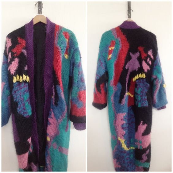 Vtg oversized avant guard cardigan by TheeCollectionAgency on Etsy, $48.00