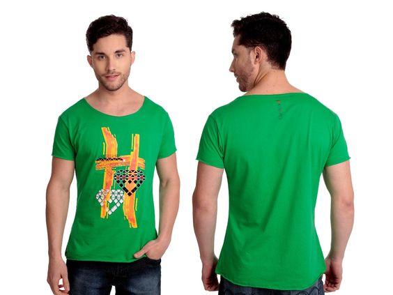 Camiseta Fire | Cód.5001 | Camiseta com silk frontal e gola com corte à laser. Elaborado em algodão.