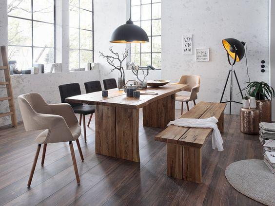 Esstisch Oakton aus Eichenholz von massivum.de