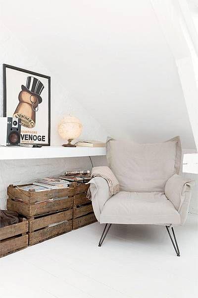 wood crates // - genialer Sessel - super schick + schaut extem gemütlich aus