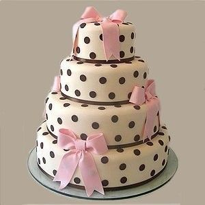 .polka dot cake