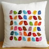 We've lost an hour of sleep, but don't fret: the weather is growing warmer and the evenings will be better lit. Warm-up your bedroom with a little sunshine from Etsy seller Sukan Art. Handmade from linen and felt, these pillow wills surely give you something bright and cheery to wake to.