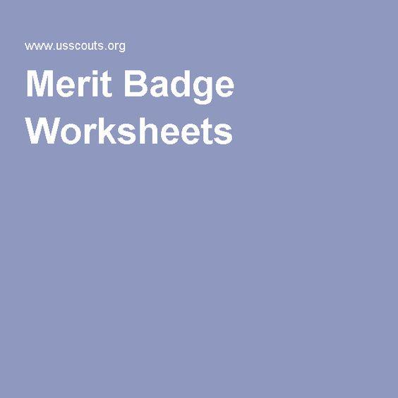 Merit Badge Worksheets | Boy Scouts | Pinterest | Merit badge ...