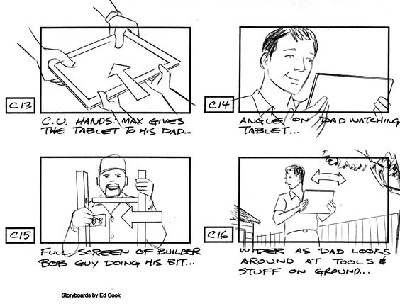 Sketching storyboards in the design proccess Storyboard - interactive storyboards