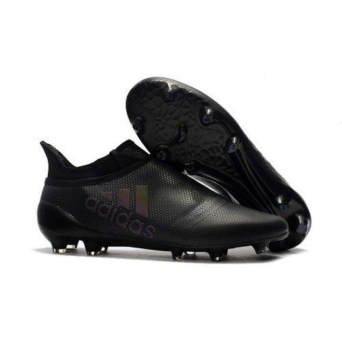 Billig Adidas X 17 Purechaos FG Fotballsko All Svart | Shoes