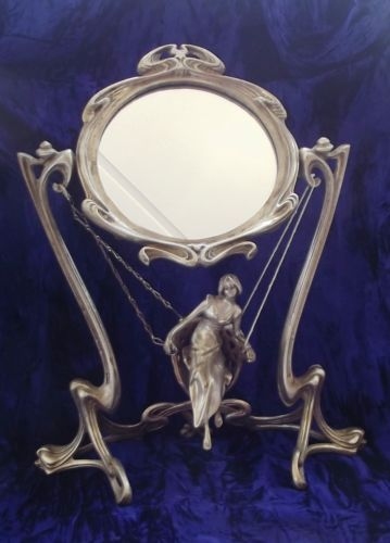 Details About Art Nouveau Girl On Swing Vanity Dressing