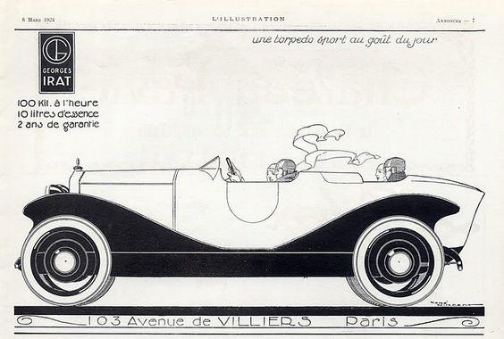 Georges Irat (Cars) 1924 René Vincent