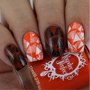 Powder Perfect- Stamping Polish - Orange