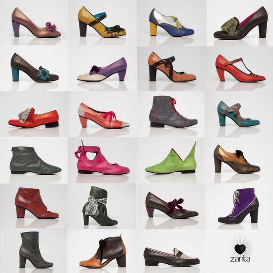 Zapatos Zanta, Zapatos de diseño