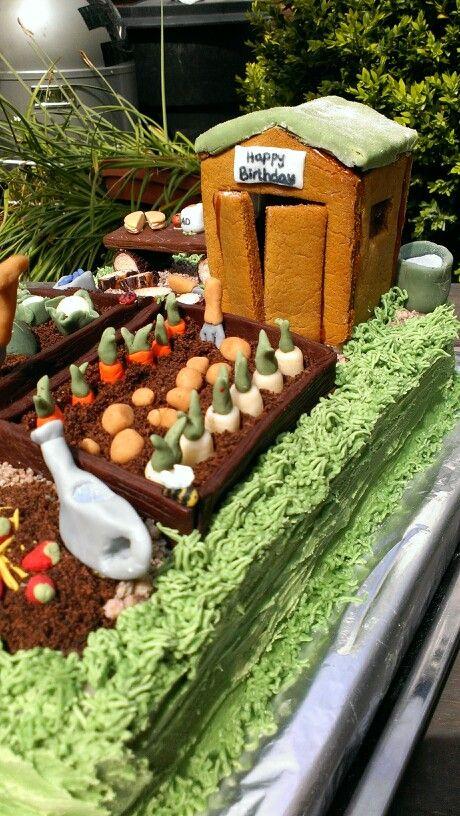 Dad's garden birthday cake 5