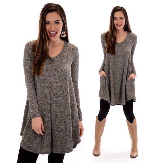 """""""This easy, ribbed tunic is every bit as trendy as it is versatile! Add our """"Run the Rib Light Tunic"""" to your closet TONIGHT at ShopBlueDoor.com…"""""""
