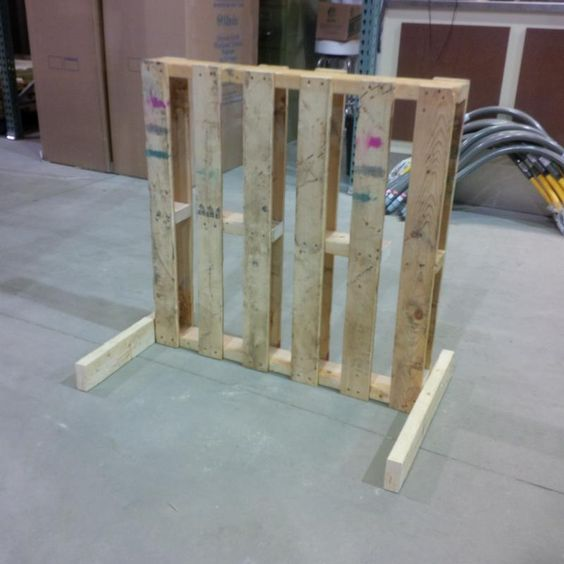 a simple pallet bike rack that i made at work.