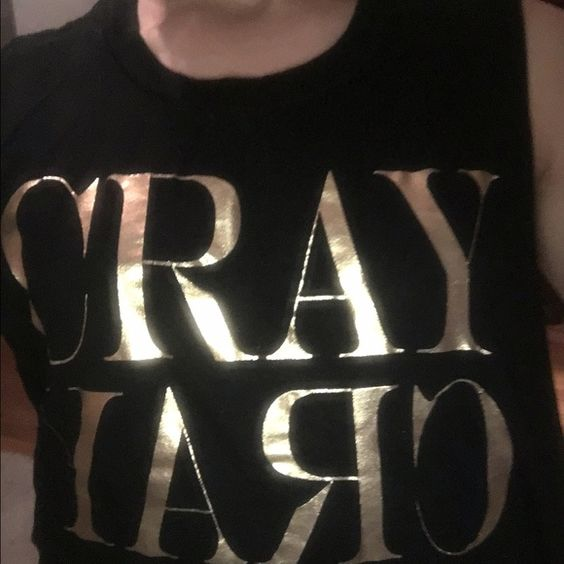 CRAY shirt Such a fun shirt! Worn once:) Forever 21 Tops Tank Tops