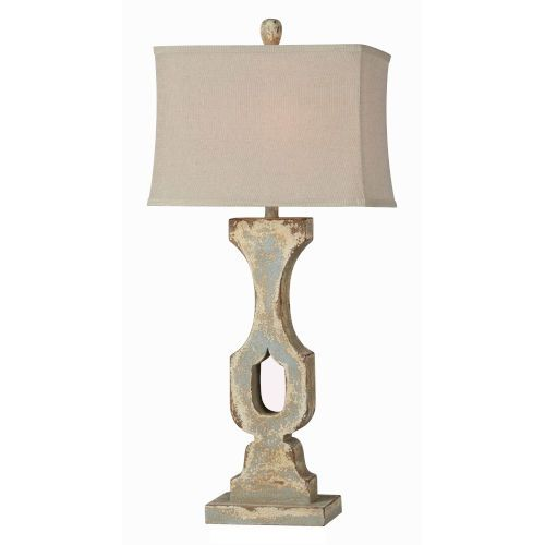 Forty West Harlow Distressed Cream And Blue One Light 36 Inch Table Lamp 72098 Bellacor In 2021 Table Lamp Lamp Table Lamp Wood