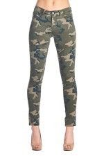 Green Camouflage Jean