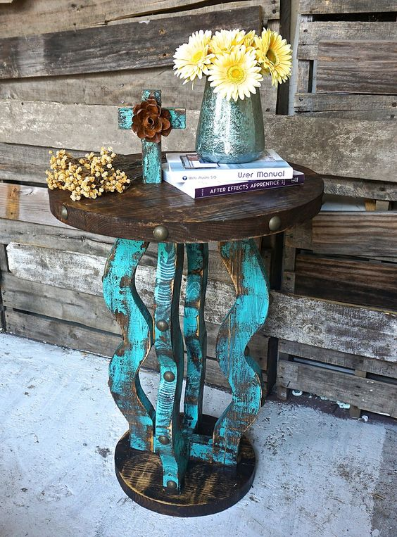 Loco Round Side Table - Sofia's Rustic Furniture