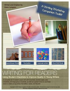 """Karen Langdon created a comprehensive writing unit for kindergarten - 2nd grade students. It includes writing paper with a visual rubric so that students may self monitor their work. Go to """"The Best of Teachers Pay Teachers"""" for this and hundreds of free lessons."""