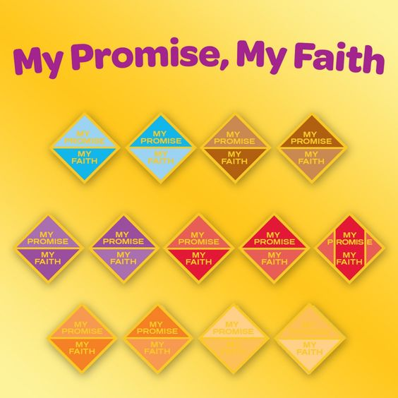 The new Girl Scouts My Promise, My Faith pin invites girls in grades K-12 to experience a faith journey through …
