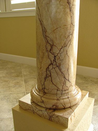 Faux finishing marble painted columns | Art-Faux Wall Art Designs Naples Fl 239 417 1888