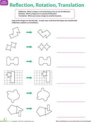 Printables Geometry Reflections Worksheet reflections geometry worksheet versaldobip shape challenges and third grade on pinterest abitlikethis