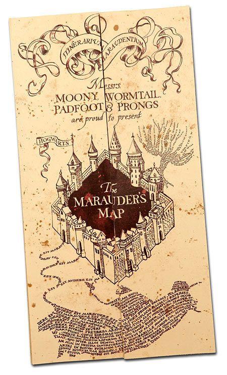 Mapa del Merodeador de Harry Potter | 22 Regalos que todo amante de los libros necesita: