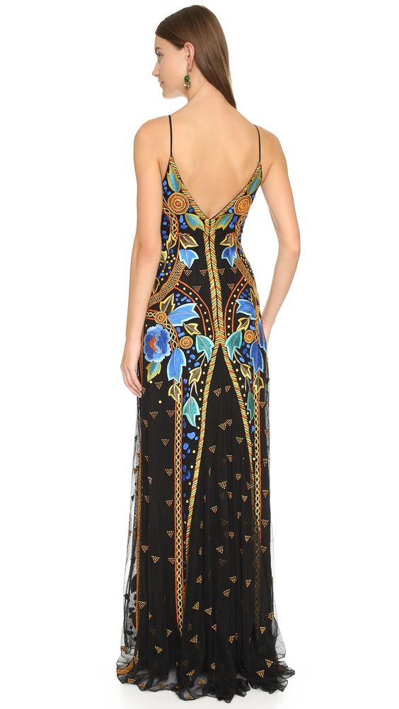 Temperley London Long Strappy Flutura Dress