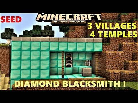 Minecraft Pe Village Next To Mansion And Ravine Seed