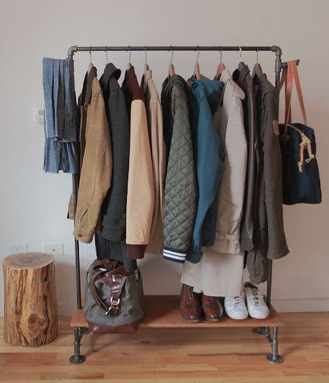 10 stylish diy clothing racks industrial garment racks for Diy clothes closet