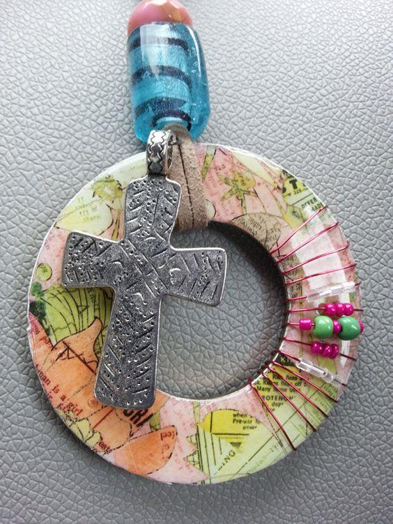 Large Washer Necklace by LaddyBuggCreations on Etsy