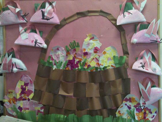 Easter basket: Preschool Ideas, Bulletin Boards, Easter Baskets