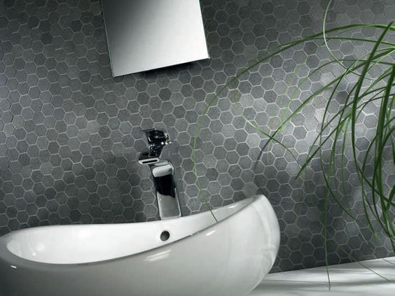 Feature Tiles Grey And Hexagons On Pinterest