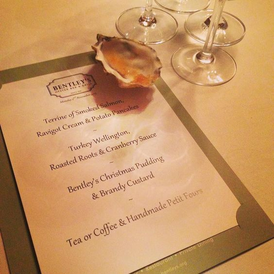 First #christmasdinner of the year. Plus oysters...obviously @bentleys_london @regentstreetw1 by ediblewomen