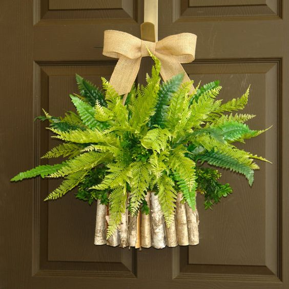 Front Door Decorations For Summer: Spring Wreath Easter Wreaths Boston Fern Boxwood Wreath