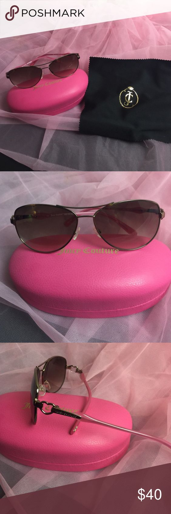 6008502b93 Juicy Couture pink aviator sunglasses