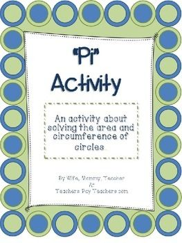 Math Worksheets pi math worksheets : Pi Day Area and Circumference | Activities, Pi day and Student