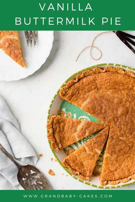 Vanilla Buttermilk Pie Recipe Recipe Buttermilk Pie Recipe Buttermilk Pie Southern Buttermilk Pie