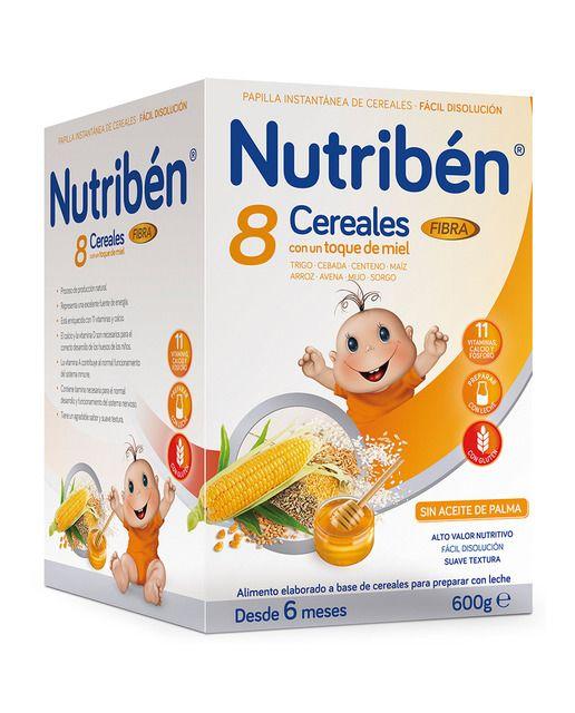 Papilla De 8 Cereales Y Miel Fibra Nutriben En 2020 Miel Seco
