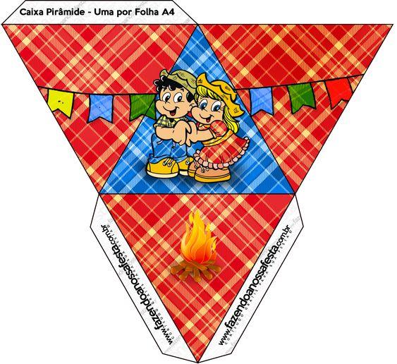 Caixa Pirâmide Festa Junina::
