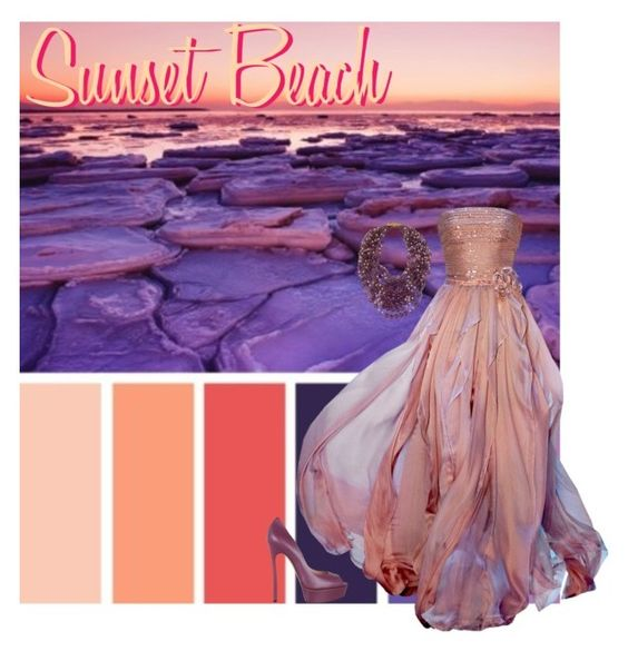 """Sunset Beach"" by goddess-of-moonlight ❤ liked on Polyvore"