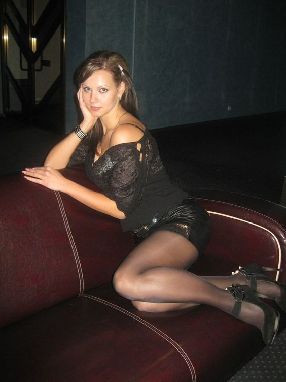 Women in dark pantyhose