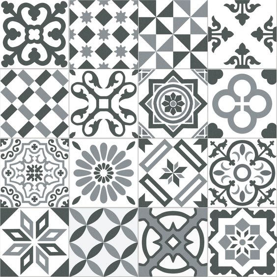 Carrelage imitation ciment gris et blanc mix 20x20 cm antigua gris 1m so - Carrelage ciment ancien ...