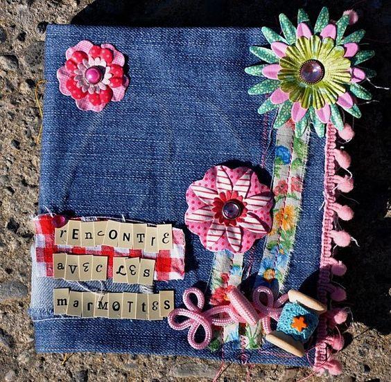 Mini album de scrap en jean