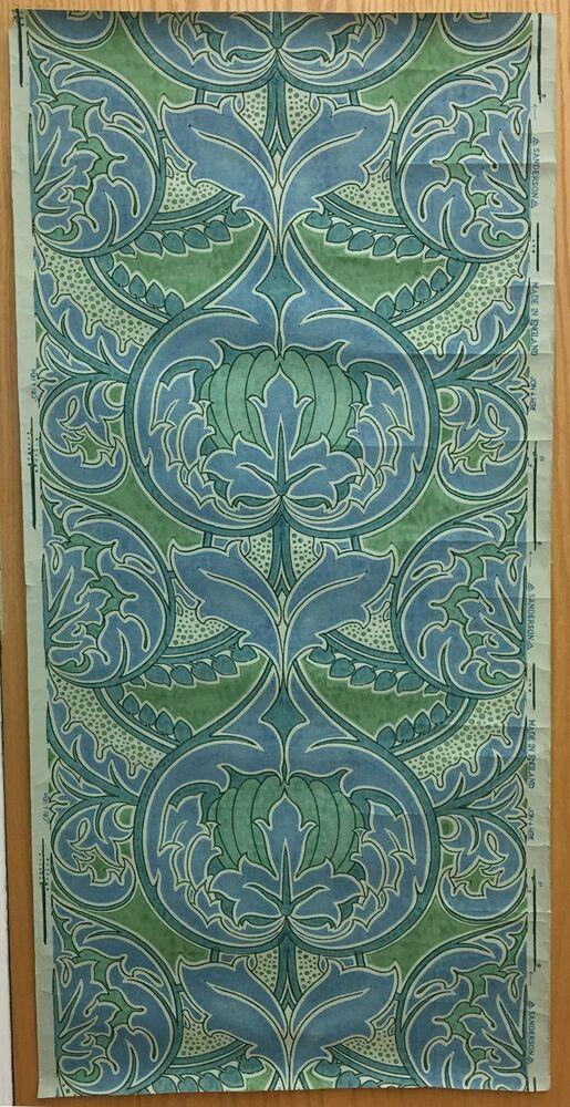 Beautiful Vintage Art Nouveau English 20th C Sanderson Wallpaper 2068 Ebay Artnouveau Wallpaper Vintage Art Nouveau Wallpaper Vintage Art Art Nouveau