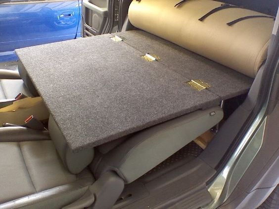 Element Camper Conversion Hinged Platform To Lay Over The