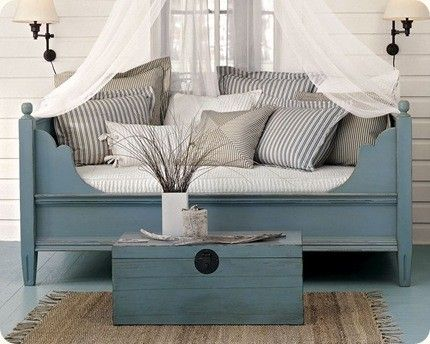 painting ideas for furniture: Guest Room, Beach House, Daybed, 3/4 Beds, Living Room, House Idea