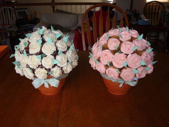 mini cupcake bouquets: