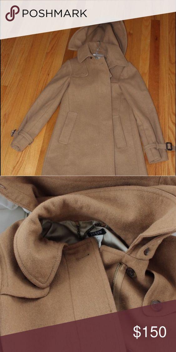 Jcrew wool hooded coat Jcrew coat J. Crew Jackets & Coats