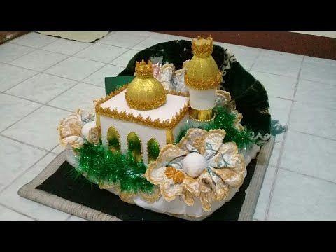 Mahar Seperangkat Alat Sholat Bentuk Masjid Kubah Emas Pelangi Shop Youtube Kreatif Kegiatan Balita Bentuk