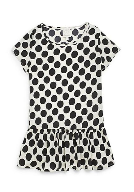 Ella Moss | Girl's Polka-Dot Peplum Top | SAKS OFF 5